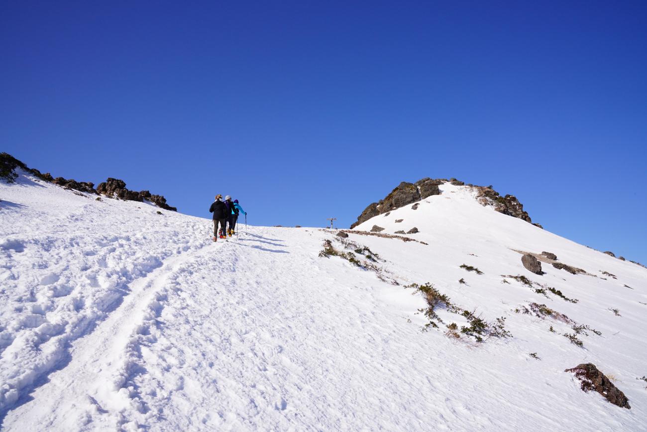 安達太良山 冬季くろがね小屋  温泉登山