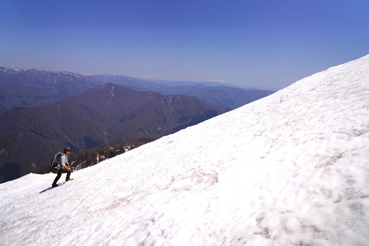 荒島岳 残雪期 登山