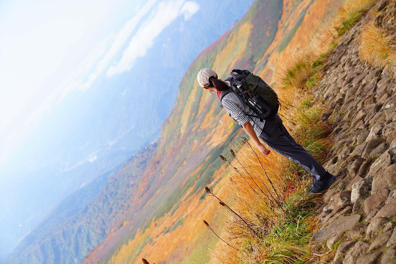 紅葉の月山登山