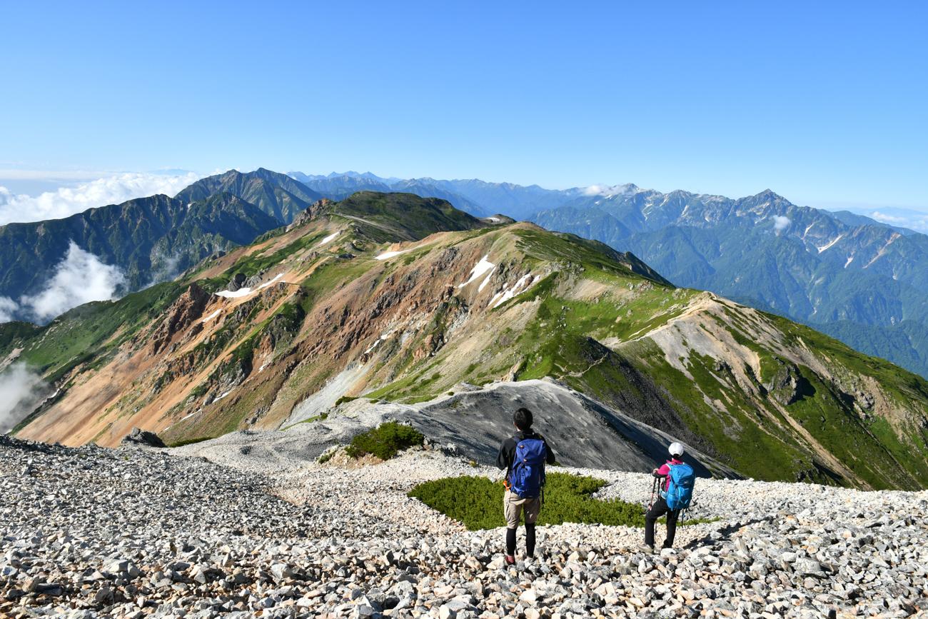 白馬鑓ヶ岳 のんびり一泊 温泉登山
