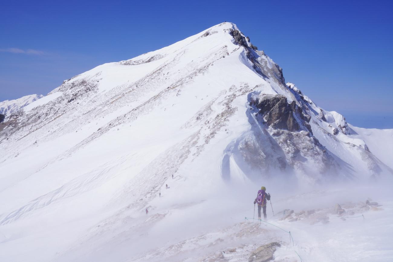 唐松岳 冬季 日帰り登山