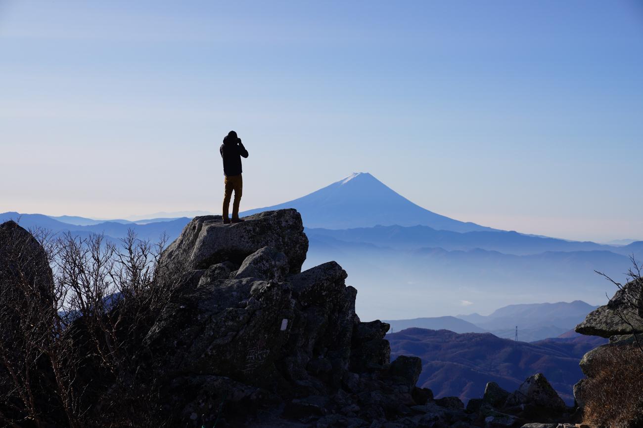 金峰山 早朝 登山