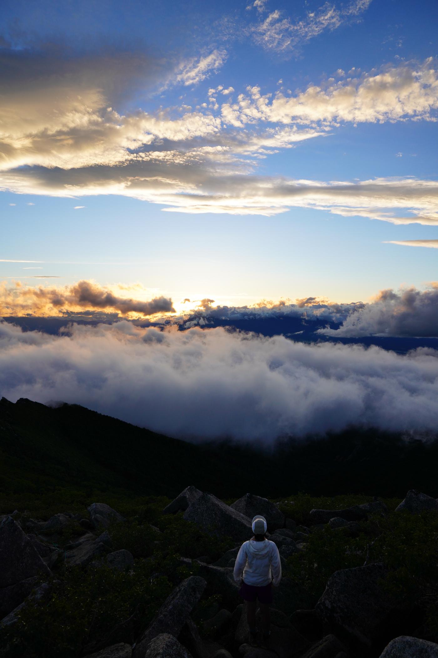 金峰山 夕焼け登山
