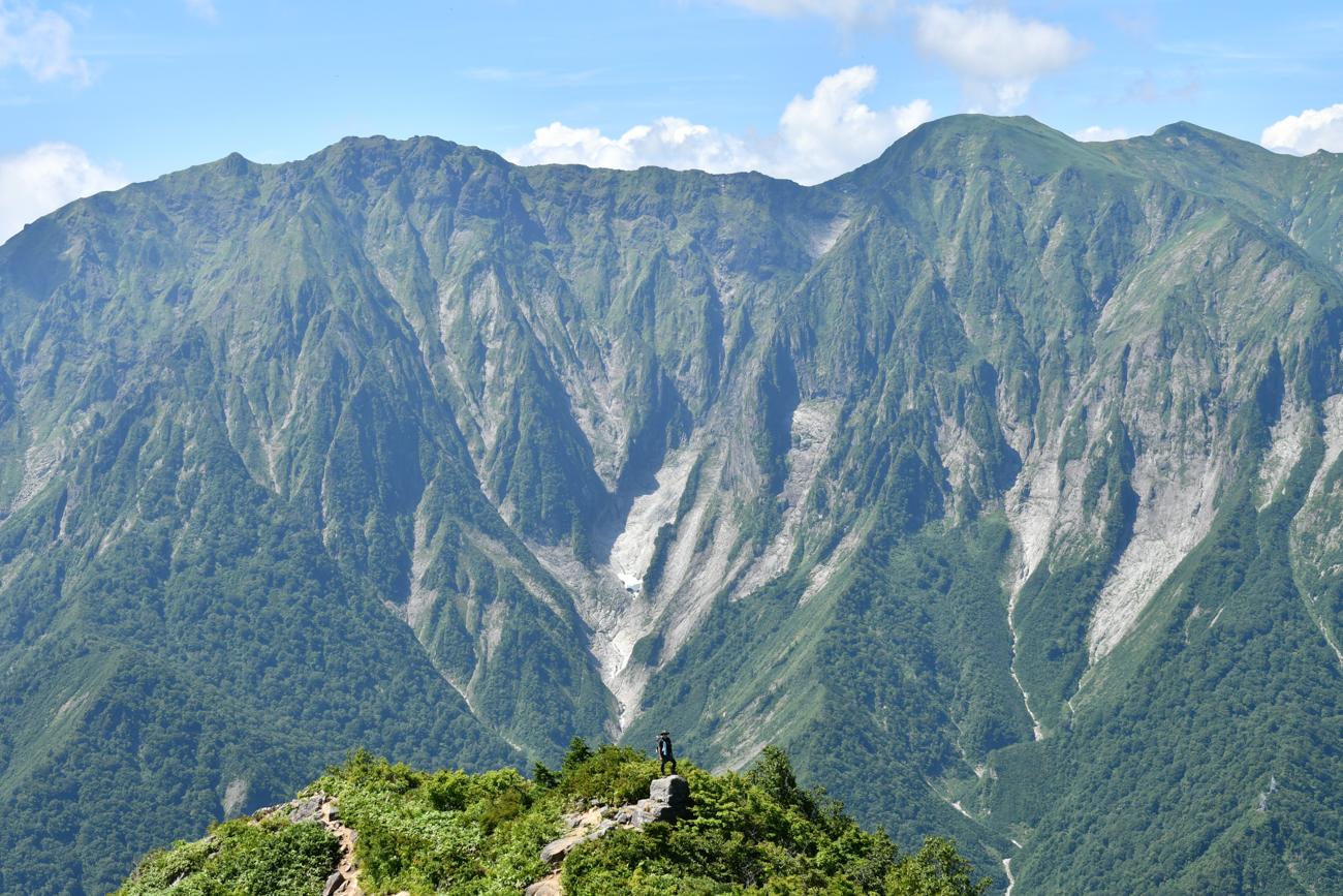 白毛門 笠ヶ岳 登山